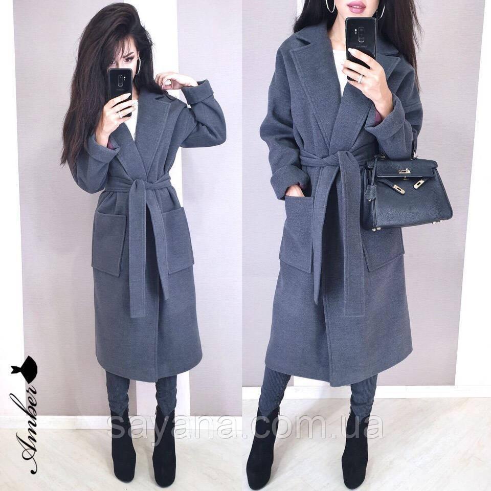 Женское кашемировое пальто, в расцветках. И-2-0819