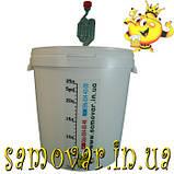Ферментер 33л + гидрозатвор + наклейка линейка, фото 2