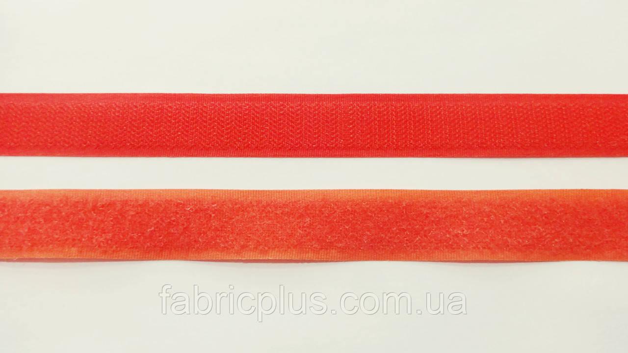 Липучка  текстильная  2 см  цвет алый (034)