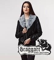 Braggart Youth | Женская куртка весна-осень 25623 черно-серая