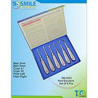 Набор элеваторов хирургических SS Smile Root Elevator Luxators 6шт.