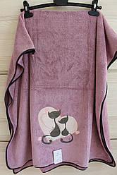 """Рушник мікрофібра для обличчя """"Котики"""" (код707-3)"""