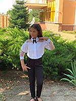 Школьные брюки для девочки №725 (р.128-152) черные и синие, фото 1