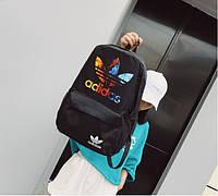 Рюкзак женский черный удобный модный спортивный школьный Adidas Адидас