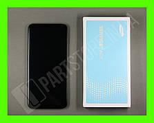 Дисплей Samsung А205 Black А20 2019 (GH82-19571A) сервисный оригинал в сборе с рамкой