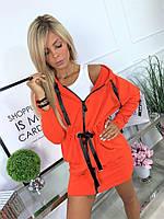 """Платье женское спортивное на молнии, размер 42-46 (5цв) """"MONIKA"""" купить недорого от прямого поставщика"""
