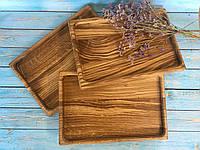 Набір дерев'яних дощок з дуба 3 шт 30х20 см, фото 1