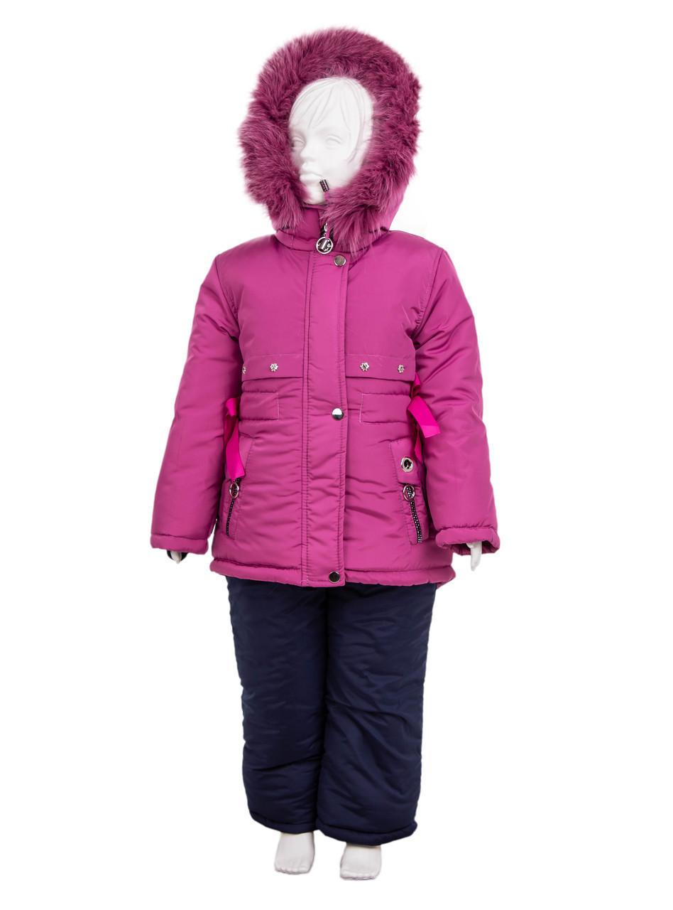 Зимний комбинезон для девочки 22-28 фиолетовый