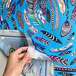 Платок шелковый (атлас) 10077-13, павлопосадский платок (атлас) шелковый с подрубкой, фото 7