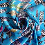 Платок шелковый (атлас) 10077-13, павлопосадский платок (атлас) шелковый с подрубкой, фото 4