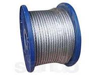 Трос стальной оцинкованный DIN 3055 5 mm (6x7) (бухта 100 м)