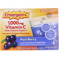 Растворимый витамин C, Ягоды асаи, Emergen-C, 1000 мг, 30 пакетиков по 8.4 г