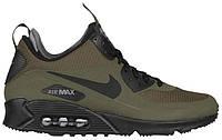 Мужские кроссовки Nike Air Max 90 Mid Winter Green (найк аир макс 90, зеленые, внутри термоносок)