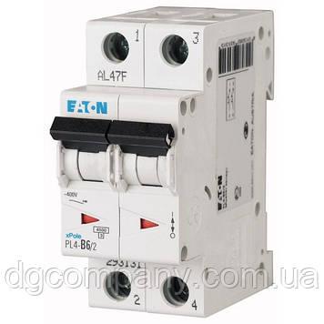 Автомат Eaton-Motller PL4-C 6/2 тип С, 4,5кА