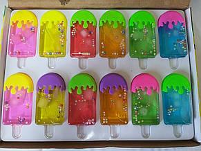 Слайм 6601/6602 Мороженое с глазками/шариками, лизун, жвачка для рук, slime, фото 2