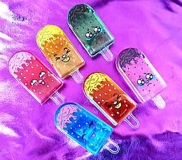 Слайм 6601/6602 Мороженое с глазками/шариками, лизун, жвачка для рук, slime, фото 3