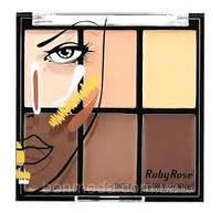 Палитра консилеров 6-ти цветная Ruby Rose