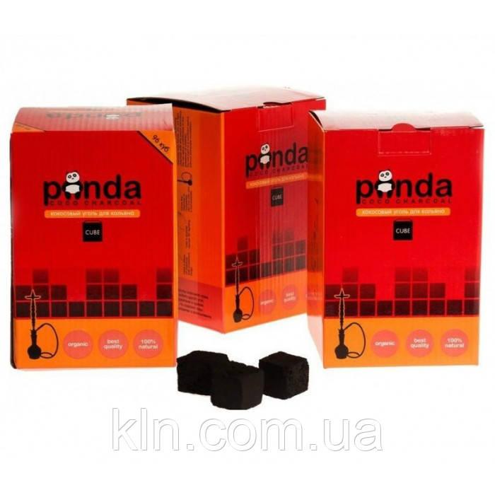Уголь Панда кокосовый 1 кг (красная) 96 угольков средние для кальяна