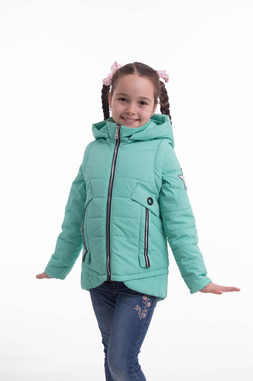 Демисезонная куртка для девочки подростка 32-42 бирюза