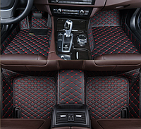 3D коврики для Toyota RAV4 2013 - 2018 кожаные с высокими бортиками