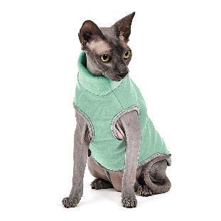 Свитер для котов и кошек Pet Fashion БРЮС S, Спина: 27-31, обхват груди: 32-38 (серый и мятный)