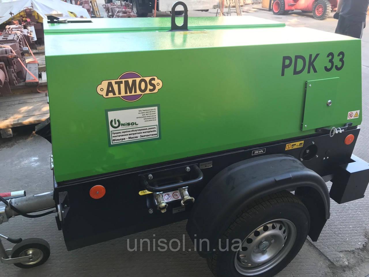 Дизельный компрессор 5м3/мин - 33 кВт. Атмос - Atmos