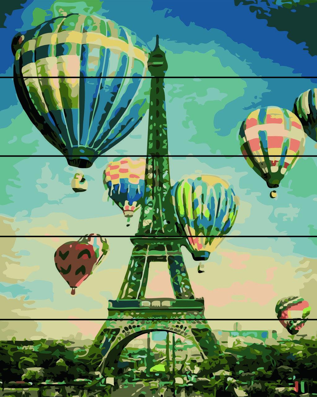 Картина по номерам по дереву Воздушные шары Rainbow Art RA-AS0134 40 х 50 см