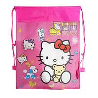 Детская сумка-рюкзак для сменной обуви Hello Kitty