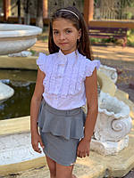 Школьная юбка для девочки №502 (р.122-140) черная, синяя, серая, фото 1