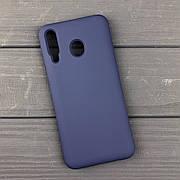 Силиконовый чехол на Samsung M30 Dark blue