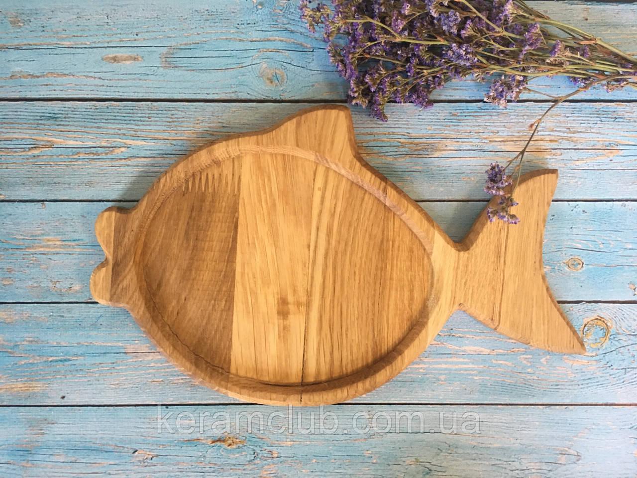 Деревянная доска в форме рыбки 33х18 см