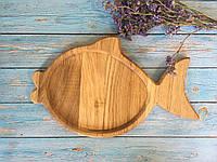 Деревянная доска в форме рыбки 33х18 см, фото 1