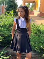 Школьный сарафан для девочки №665 (р.122-140) / в расцветках, фото 1