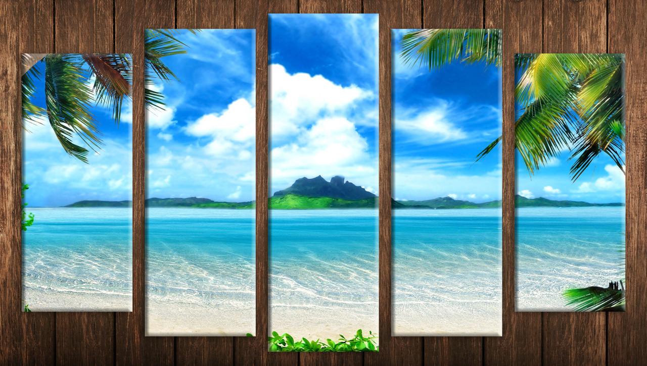 """Модульная картина на холсте """"Рай на земле 2"""""""