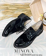 Замшевые женские туфли на шнурках (размеры 36-42), фото 1