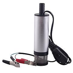 Насос электрический для перекачки дизельного топлива с клещами 12V автомобильный Электро насос