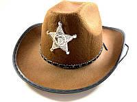 Шляпа карнавальная шерифа - аксессуар для вашего образа, темно-коричневая