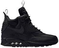 Мужские кроссовки Nike Air Max 90 Sneakerboot Black (найк аир макс 90 сникербут, черные, термо)