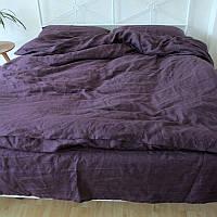 Постельное белье лен Фиолетовый ТМ Царский дом  (Полуторный)