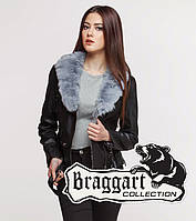 Braggart Youth | Куртка женская весенне-осенняя 25692 черно-серая