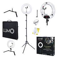 Кольцевая лампа LUMO ULTRA™   105 Ватт   Кольцевой свет для визажиста, макияжа, фото и видео   Белая