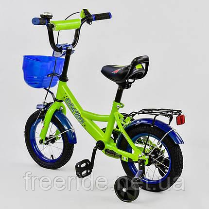 "Детский Велосипед CORSO 12"" G-12099 (ТЕМНО-СИНИЙ, фото 2"