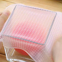 Набор силиконовых многоразовых крышек для хранения продуктов