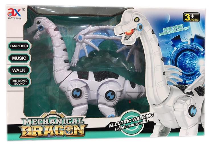 Интерактивное животное, динозавр, свет, звук, ходит, 845B