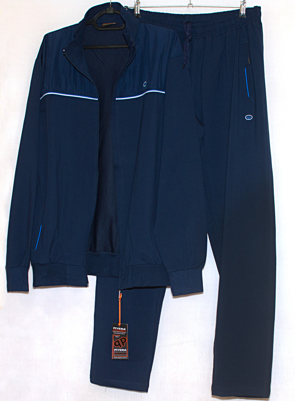 Mужской спортивный костюм синий большого размера Piyera 7417 (3X-4XL)