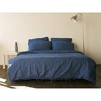 Постельное белье лен Синий ТМ Царский дом  (Евро макси)