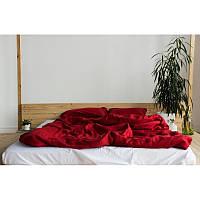 Постельное белье лен Красный+ Белый микс ТМ Царский дом Евро макси
