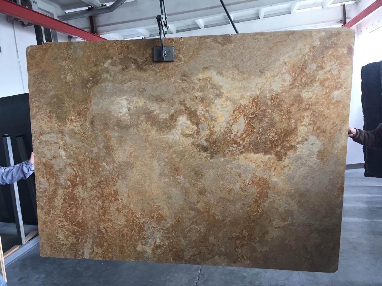 Travertine Gold Filled CC, Слэб травертина (сляб) 20мм