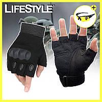 Тактические перчатки с открытыми пальцами Oakley + Защитные очки UV400 в Подарок