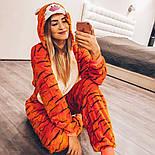 (S, M, L, XL) Пижама кигуруми тигр взрослый, подросток v145, фото 2